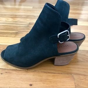 Lucky Brand brushed leather booties